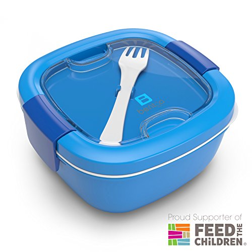 Bentgo Salad Blue - Conveniently Take Salads and Other Snacks On-the-go  Eco-Friendly BPA-Free Lunch Container