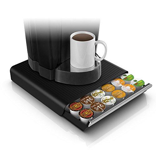 Mind Reader Hero 36 Capacity Single Serve Coffee Pod Storage Drawer Black