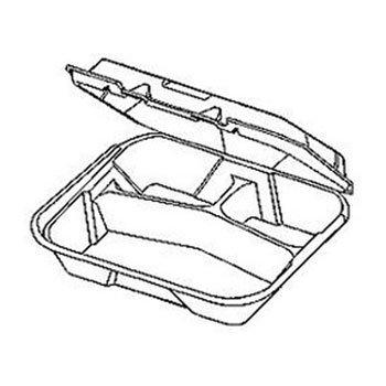 Genpak Snap It™ Hinged-Lid Foam Food Container GNP SN341