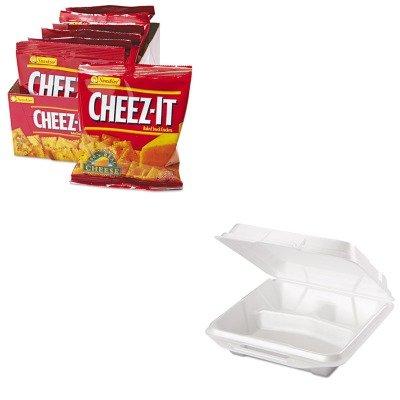 KITGPK20310KEB12233 - Value Kit - Genpak Foam Food Containers GPK20310 and Kelloggs Cheez-It Crackers KEB12233