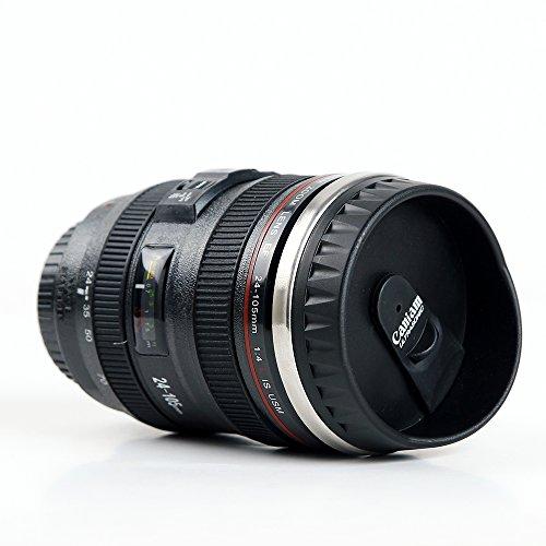 MIROO Slr Camera Lens Mug Canon 12 oz Travel Coffee Cup Tea Mug Water Mug Stainless Steel Tumbler Coffee MugBets Gifts for photographers