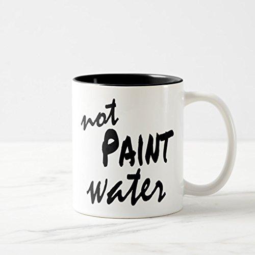 Zazzle Paint Water Not Paint Water Matching Mugs Black Two-Tone Mug 11 oz