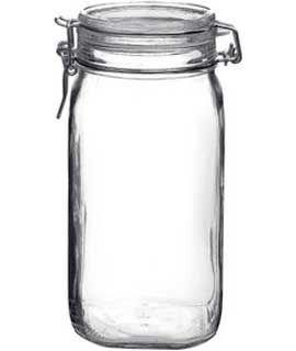 6 Pcs Bormioli Rocco Fido 15L 54oz Latch Lid Canning Glass Jar