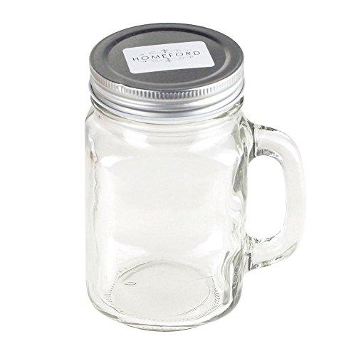 Homeford Clear Glass Mason Jar with Lid 5-Inch 12-Piece