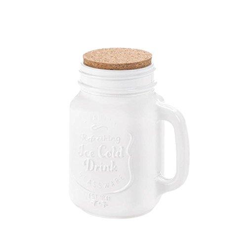 Mason Jar Lid Vintage Glass Regular Mouth Mason Jars White With Cork Lid