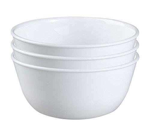 Corelle Coordinates Corelle Livingware Super Soup/cereal Bowl, 28 Oz, Winter Frost White, Set Of 3