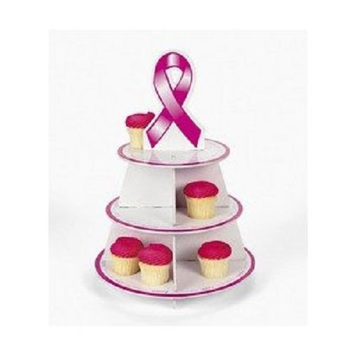 Foam Breast Cancer Awareness Pink Ribbon Cupcake Tray Holder