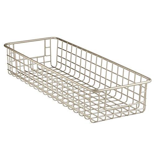 InterDesign Classico Kitchen Pantry Cabinet Wire Basket Orgainzer Satin