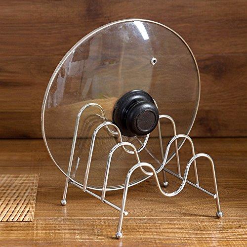 Kaimao 3 Shelfs Multifunction Stainless Steel Bakeware Holder Pantry Cabinet Organizer Pot Lid Rack