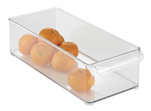 mDesign Refrigerator Freezer Pantry Cabinet Organizer Bin for Kitchen - 6 x 4 x 145 Clear