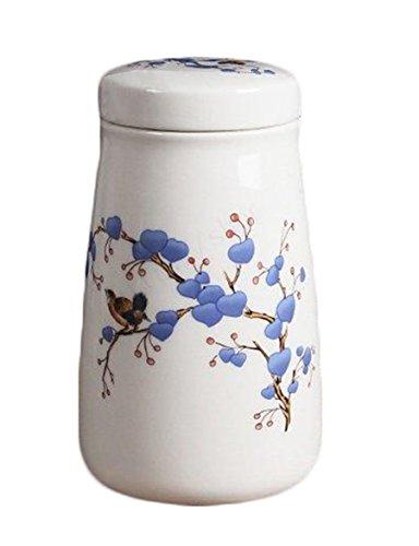 Tea canisters China ceramic tea caddy Handmade Plum Caddy Sealed jar Storage tank Tea cans ceramic jar