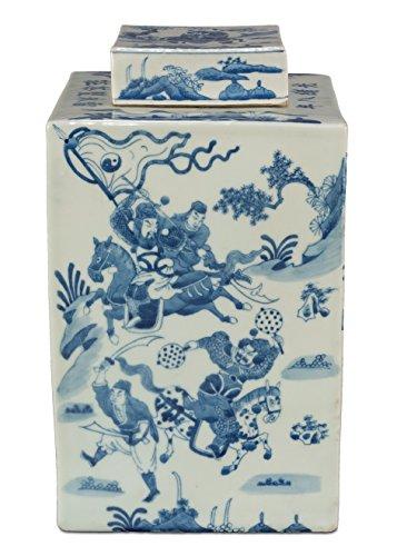 Sarreid 29870 Temple Ceramic Jar with Lid