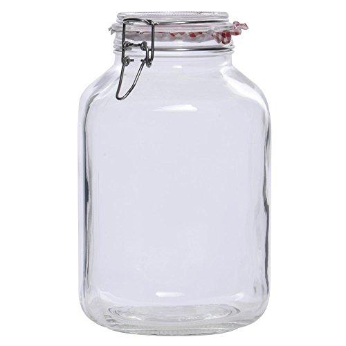 145 oz Glass Hermetic Jar - 6 14L x 6 14W x 10 116H