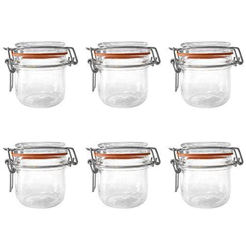 Global Amici Terrine Hermetic Jar Set of 6 7 oz Clear