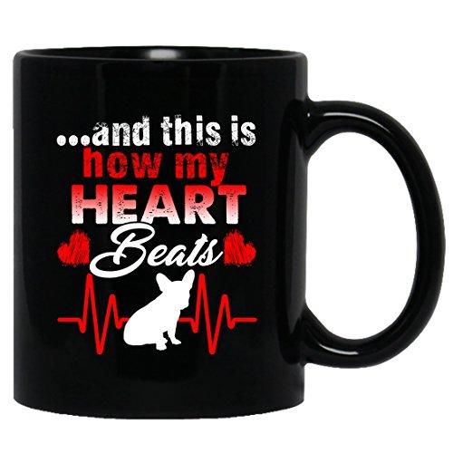 French Bulldog Mug Coffee French Bulldog Tea Cup Black Mugs Coffee Mug Ceramic 11oz Perfect Gift For Friends