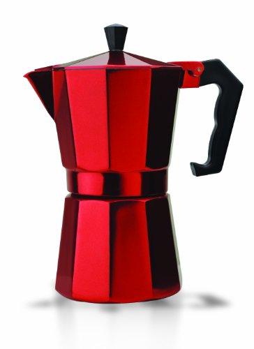 Primula PERE-3306 6-Cup Aluminum Espresso Coffee Maker Red