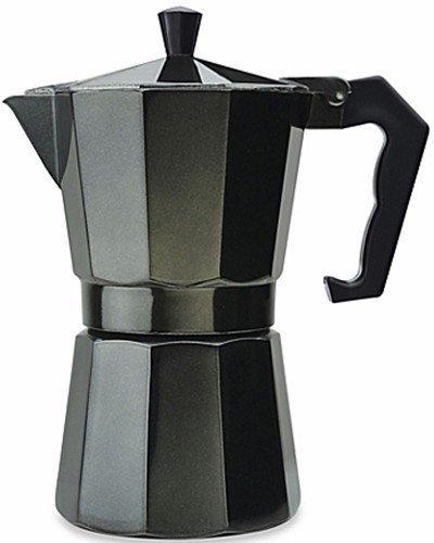 Aluminum 3 Cup Espresso Maker Designer Black