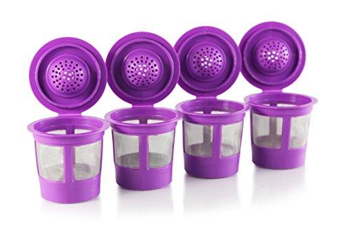 Reusable K-Cups for Keurig 10 20 Machines - Fits Most Keurig Brewers see full list Purple 4 Pack