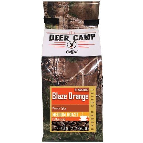 Deer Camp Coffee Blaze Orange Pumpkin Spice Ground Flavor 12 oz