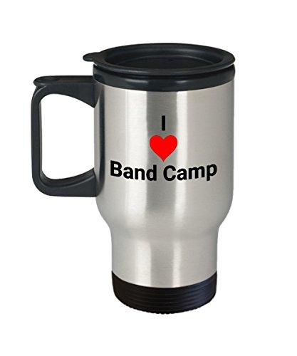 I Love Heart Band Camp - Coffee Tea Travel Mug Gift for Band Player and Musician