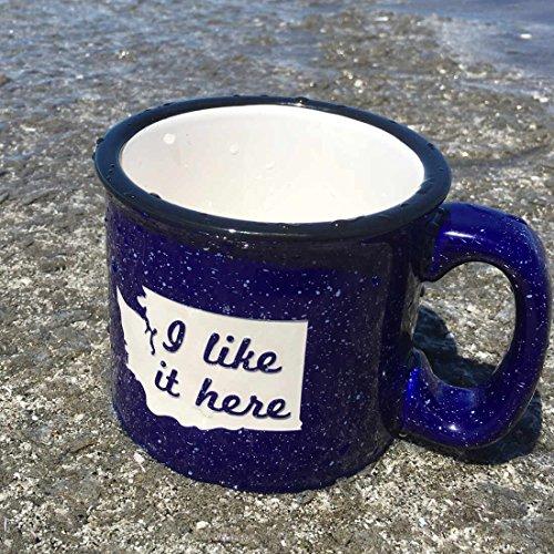 WASHINGTON Camp Coffee Mug - NAVY BLUE