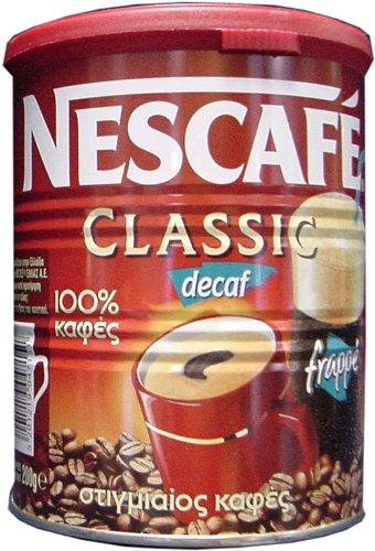 Nescafe Classic Instant Greek Coffee Decaf 100 Gram Can
