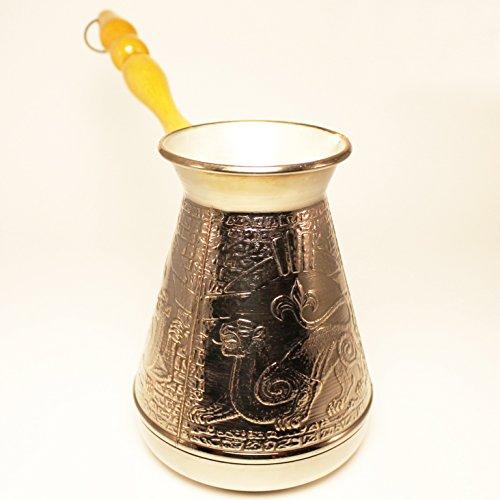 Turkish Greek Coffee Pot Leopard Volume 20 Oz - 600 ML Ibrik Briki Cezve Turka