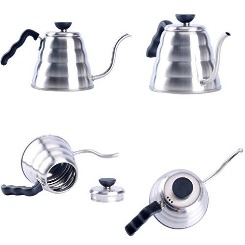 YaeKoo 1L Stainless Steel 304 Coffee Drip KettleGooseneck Stainless Steel Drip Pot for Coffee Tea
