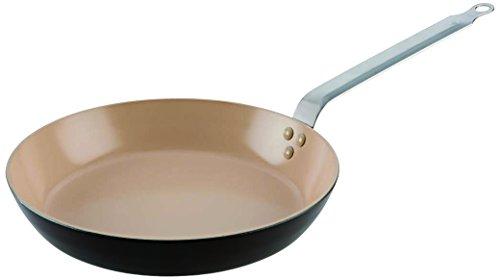 Matfer Bourgeat 675220 Classic Ceramic Fry Pan 7 34-Inch BrownBeige