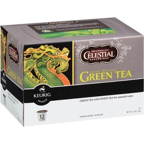 Keurig Celestial Seasonings Green Tea K-cups 12 Count Pack of 5