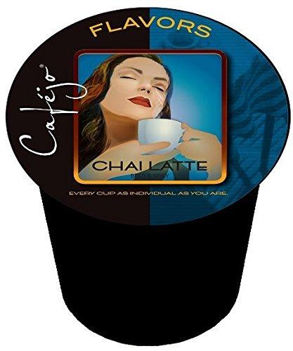 Cafejo Tea K-Cups Chai Latte 50 Count