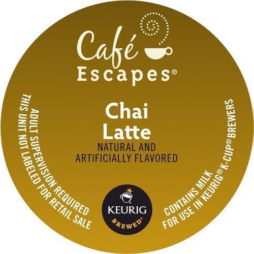 Keurig Café Escapes Chai Latte K-Cup packs 04 Ounce 100 Count 61yNEiy