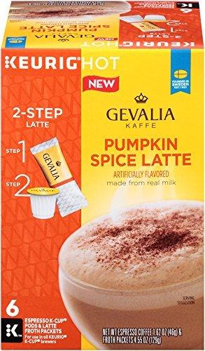 2 Boxes Gevalia Pumpkin Spice Latte K-Cup 6 Per Box