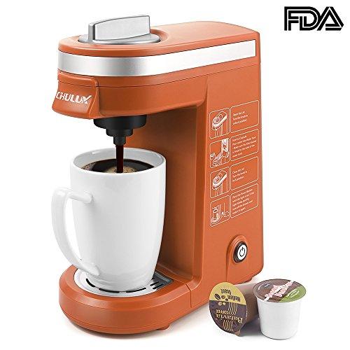CHULUX Coffee Maker Single-Serve Coffee Machine for K CupsOrange