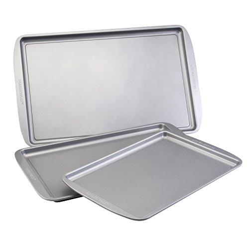 Farberware Nonstick Bakeware 3-Piece Cookie Pan Set Gray
