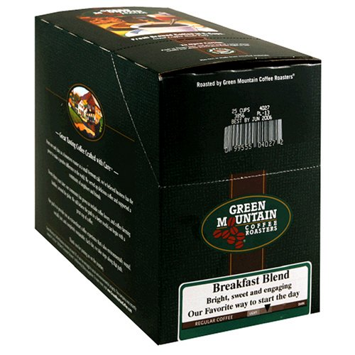 Green Mountain Coffee Breakfast Blend K-Cups for Keurig Brewers 25-Count Boxes Pack of 2