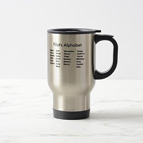 Zazzle Alphabet Pilots Alphabet Mug Stainless Steel TravelCommuter Mug 15 oz