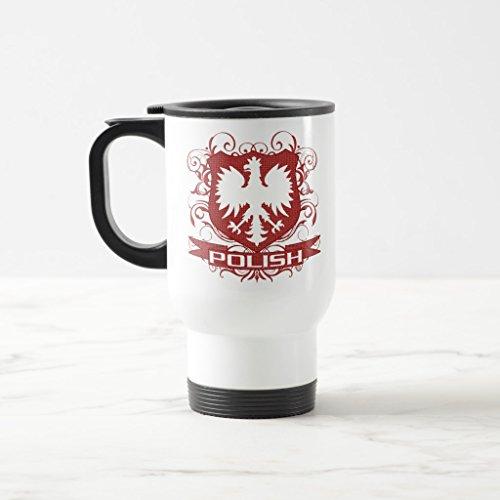 Zazzle Polish Eagle Crest Coffee Mug White TravelCommuter Mug 15 oz