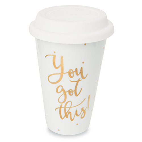 Mud Pie Travel Mug with Lid Inspirational You Got This