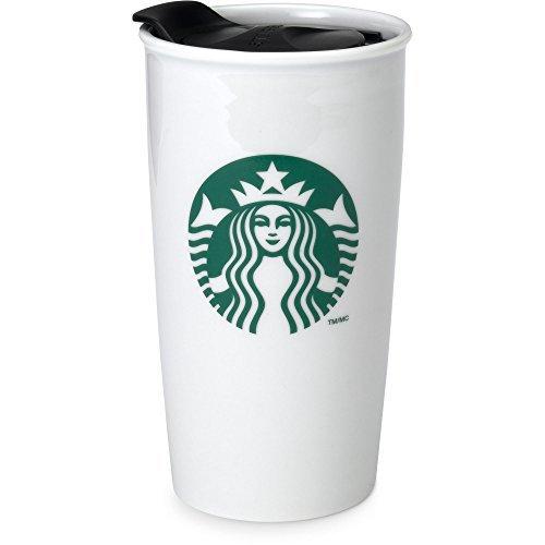 Starbucks Coffee Double Wall Ceramic Travel Mug Cup 12 oz