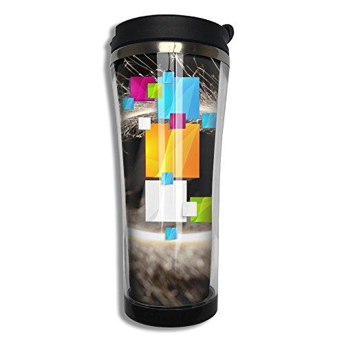 Fnkj-74 Colorful Multi Squares Fishion Insulated Coffee Tumbler