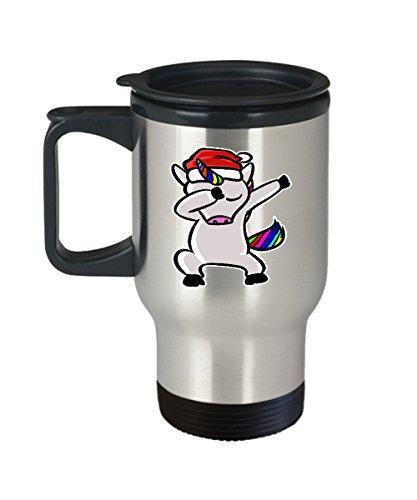 Christmas Coffee Travel Mug - Unicorn Funny Gifts - 14 oz Stainless Steel Cup