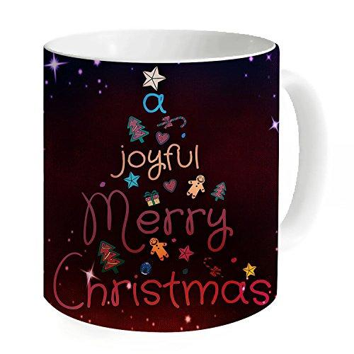 HANHAOKI Joyful Merry Christmas Coffee Travel Mug Christmas Gift