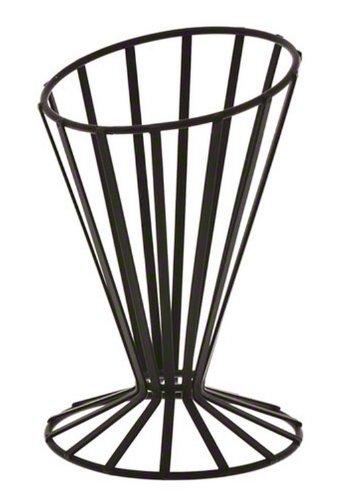 American Metalcraft FWB4 Wrought Iron Slanted French Fry Basket Black
