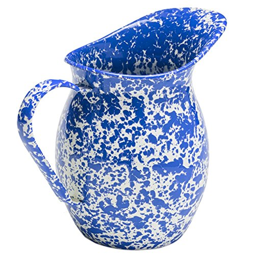 Enamelware Large Pitcher - Blue Marble
