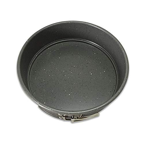 casaWare 9-inch Springform Pan Ceramic Coated NonStick Silver Granite