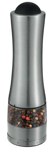 Prodyne Pepperpro Smart Grind Stainless Steel Automatic Pepper or Salt Mill