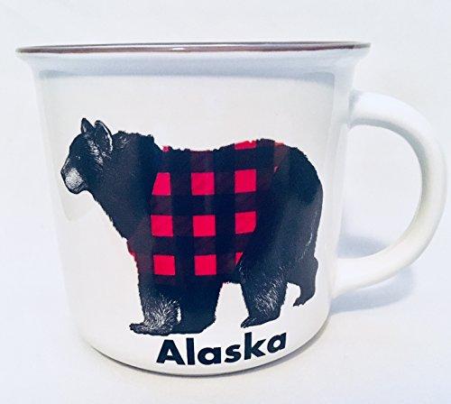 Alaska Black Bear Wears Plaid Novelty Coffee Mug