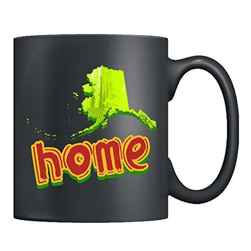 Alaska Coffee Mug Ceramic - Alaska Home Mugs Tea Cup Black Mug 11oz For You And Family