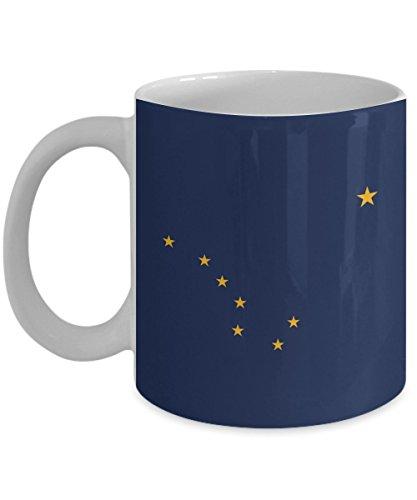 State Flag Of Alaska Coffee Mug White 11 oz - Unique Gifts By huMUGous